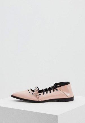 Туфли McQ Alexander McQueen. Цвет: розовый