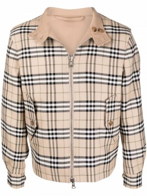 Двусторонняя куртка в клетку Vintage Check Burberry. Цвет: нейтральные цвета