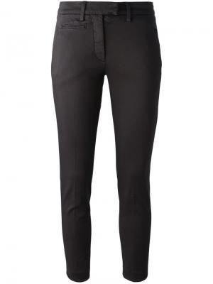 Укороченные брюки-чинос Dondup. Цвет: коричневый