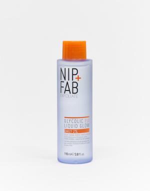 Тоник для ежедневного использования с гликолевой кислотой 2% -Бесцветный Nip+Fab
