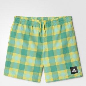 Пляжные шорты Checked Water Performance adidas. Цвет: зеленый