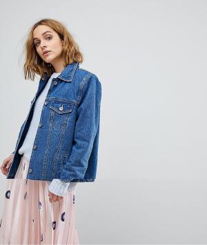 Джинсовая куртка бойфренда Vero Moda. Цвет: синий