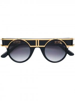Солнцезащитные очки vintage 002 из лимитированной коллекции Cazal. Цвет: черный