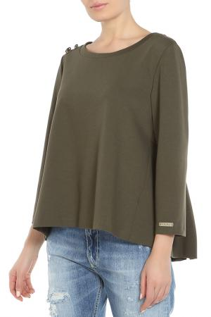 Блуза LE FATE. Цвет: зеленый