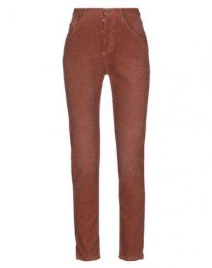 Повседневные брюки PAOLO PECORA. Цвет: ржаво-коричневый