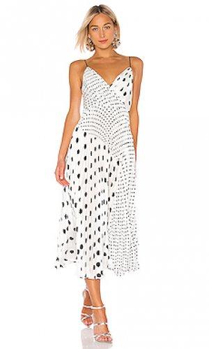 Платье миди JILL STUART. Цвет: белый