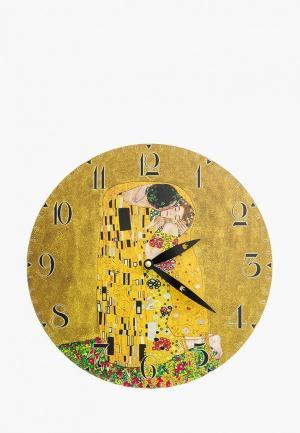 Часы настенные Elan Gallery. Цвет: коричневый