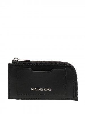 Кошелек на молнии с тисненым логотипом Michael Kors Collection. Цвет: черный