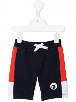 Спортивные шорты Aigner Kids. Цвет: синий