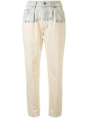 Зауженные джинсы с эффектом потертости IRO. Цвет: коричневый