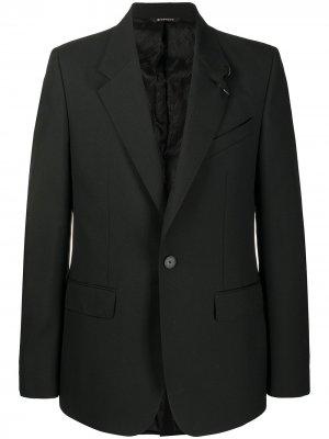 Однобортный смокинг с заостренными лацканами Givenchy. Цвет: черный