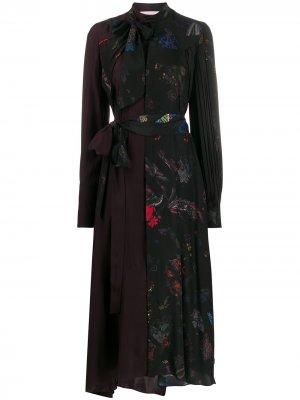 Платье-рубашка с контрастной вставкой A.F.Vandevorst. Цвет: красный
