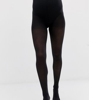 Набор из 2 пар черных колготок для беременных плотностью 50 ден Mamalicious-Черный Mama.licious