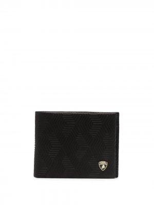 Бумажник с логотипом Automobili Lamborghini. Цвет: черный