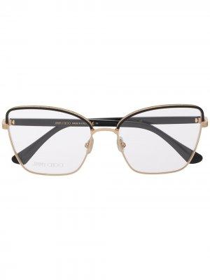 Очки в квадратной оправе Jimmy Choo Eyewear. Цвет: черный
