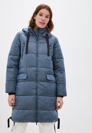 Куртка утепленная Снежная Королева. Цвет: синий