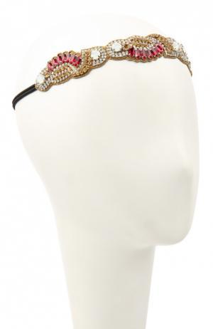 Повязка для волос Deepa Gurnani. Цвет: красный