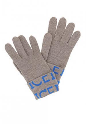 Перчатки ICE ICEBERG. Цвет: коричневый