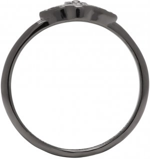 Gunmetal Oslo Ring Vivienne Westwood. Цвет: ruthenium