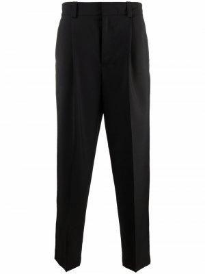 Зауженные брюки строгого кроя Acne Studios. Цвет: черный
