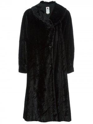 Пальто из искусственного меха Emanuel Ungaro Pre-Owned. Цвет: черный