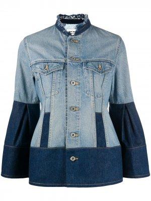Джинсовая куртка с контрастной вставкой Junya Watanabe. Цвет: синий