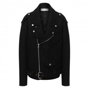 Шерстяная куртка Dries Van Noten. Цвет: чёрный