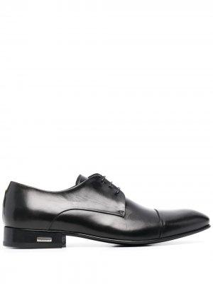 Туфли на шнуровке Baldinini. Цвет: черный