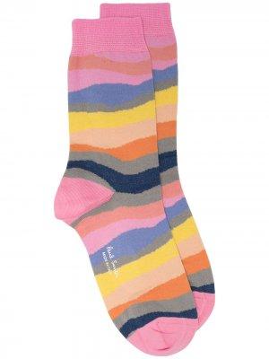 Носки с абстрактным узором Paul Smith. Цвет: розовый