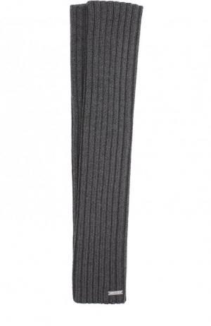 Удлиненные шерстяные митенки Dsquared2. Цвет: серый