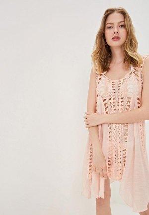 Платье пляжное Care of You. Цвет: розовый