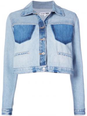 Джинсовая куртка структурированного фасона Re/Done. Цвет: синий