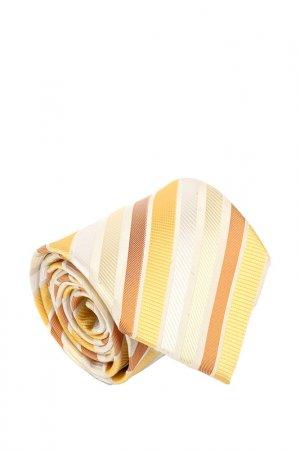 Галстук Basile. Цвет: белый, светло-серый, желтый