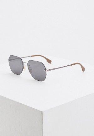 Очки солнцезащитные Fendi FF M0067/F/S 807. Цвет: серебряный