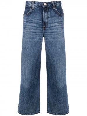 Укороченные джинсы широкого кроя J Brand. Цвет: синий