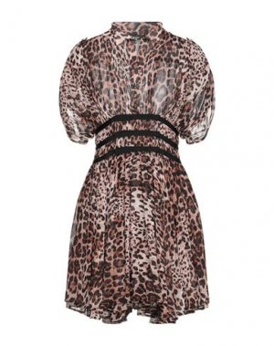 Короткое платье EUREKA by BABYLON. Цвет: коричневый