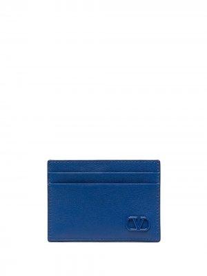 Картхолдер с логотипом VLogo Valentino Garavani. Цвет: синий