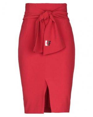 Юбка длиной 3/4 CRISTINAEFFE. Цвет: красный