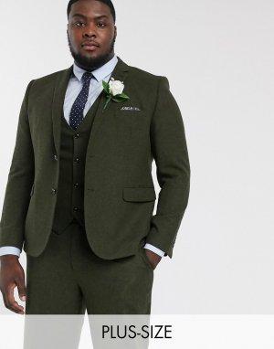 Свадебный пиждак Plus-Зеленый Harry Brown