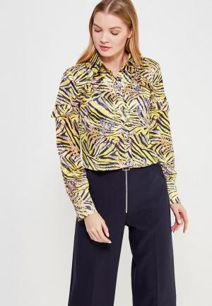 Блуза LOST INK ANIMAL FLORAL PRINT SHIRT. Цвет: желтый