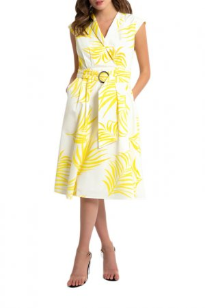 Платье Apart. Цвет: кремовый, желтый