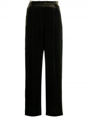 Бархатные брюки широкого кроя Aspesi. Цвет: зеленый