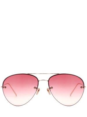 Очки солнцезащитные Linda Farrow. Цвет: разноцветный