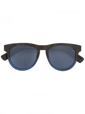 Tods солнцезащитные очки с плетеной деталью Tod's. Цвет: синий