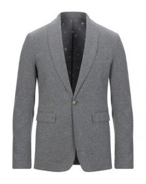 Пиджак THE EDITOR. Цвет: серый