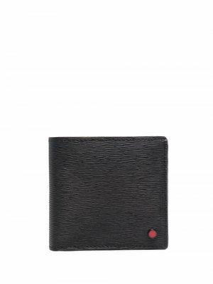 Бумажник из сафьяновой кожи Kiton. Цвет: черный