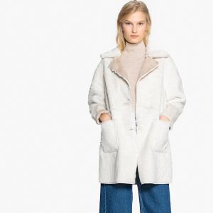 Пальто двухстороннее LPB WOMAN. Цвет: белый