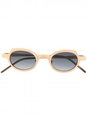 Солнцезащитные очки RG0090 в круглой оправе Rigards. Цвет: золотистый