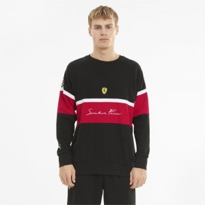 Толстовка Scuderia Ferrari XTG Crew Neck Mens Sweater PUMA. Цвет: черный