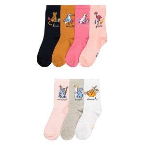 Комплект из 7 пар носков LaRedoute. Цвет: разноцветный